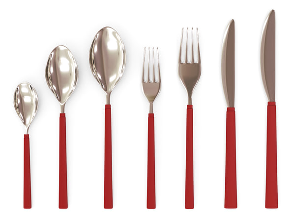 cutlery set 3d 3ds