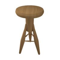 rocket stool 3d max