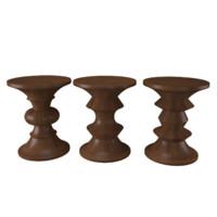 3d model eames walnut stools