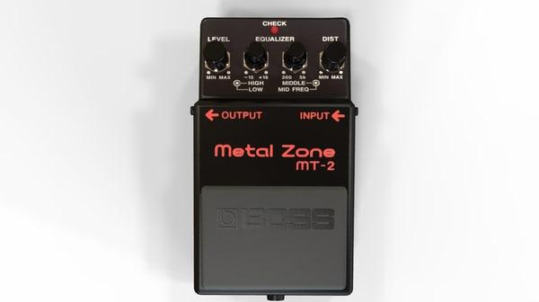 3d model metalzone mt-2 guitar
