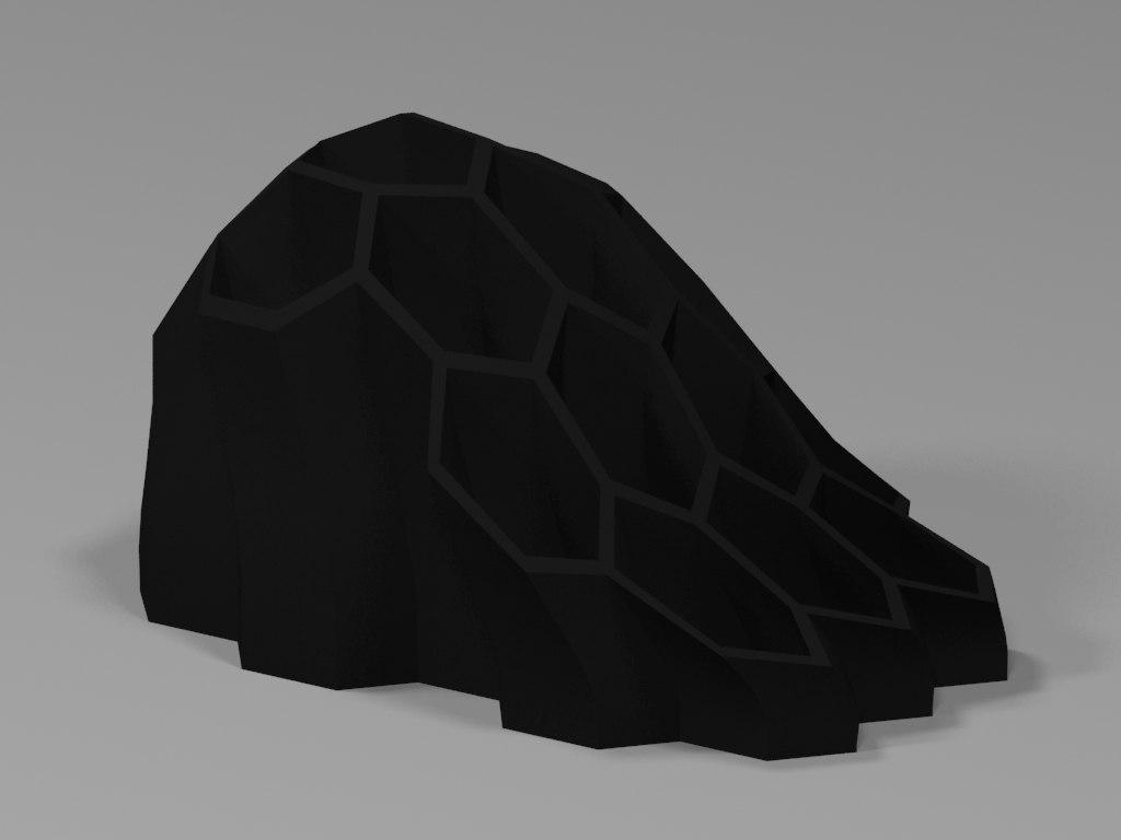 hexagon organic pen holder 3d model
