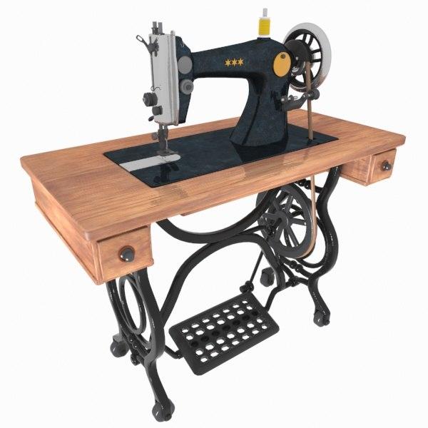 3d sewing machine toon model