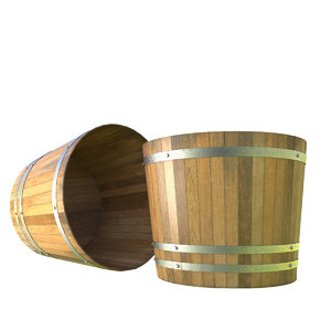 bushel barrel 3d model