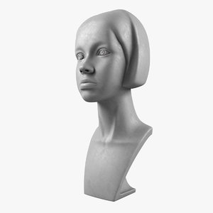 3d model girl head mannequin m001