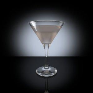 3d martini glass model