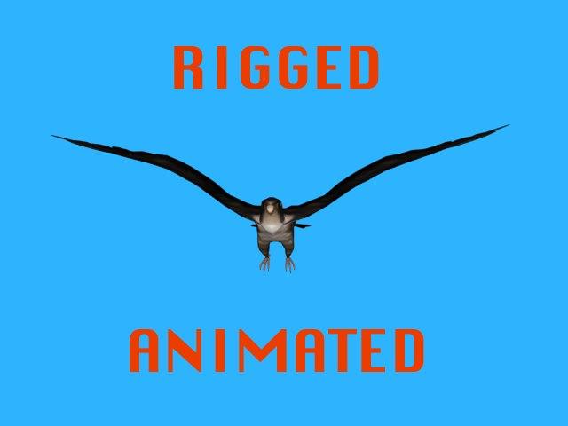 3ds rigged falcon