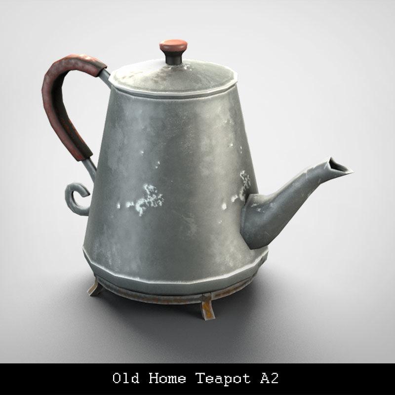 old home teapot obj