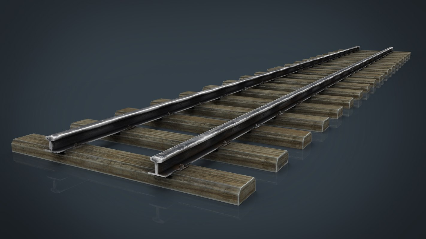 3d model of railway track