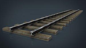 3d model of railway track