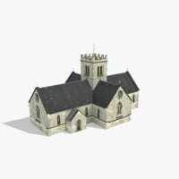 church st mary 3d model