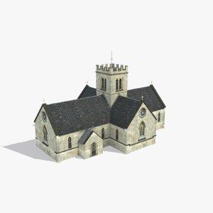 church st mary 3d model