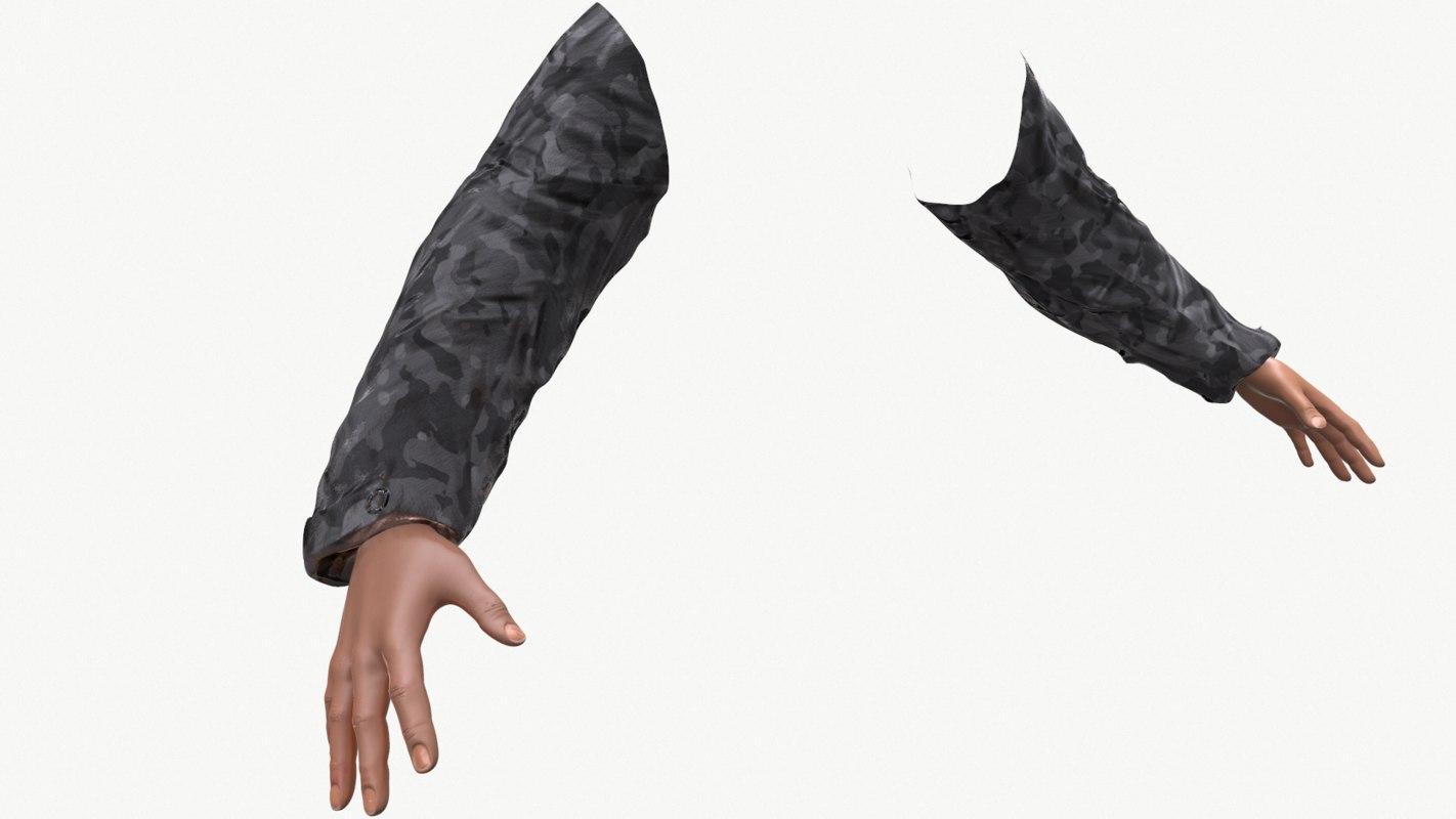 3d model arms fps