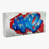 graffiti wall 3d model