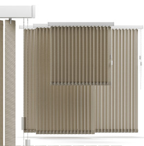 3d model vertical blind