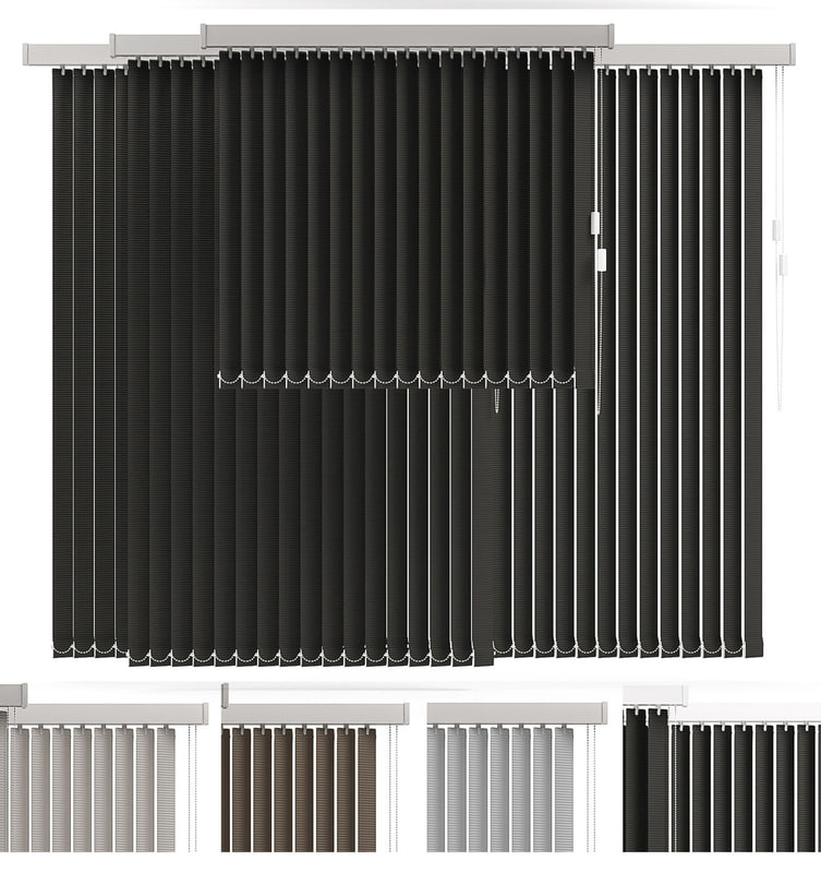 3d vertical blind 4 model