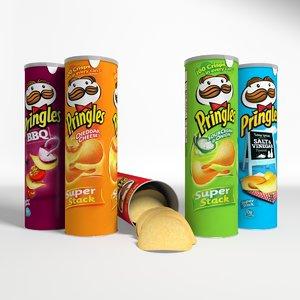 pringles cans potato 3d max