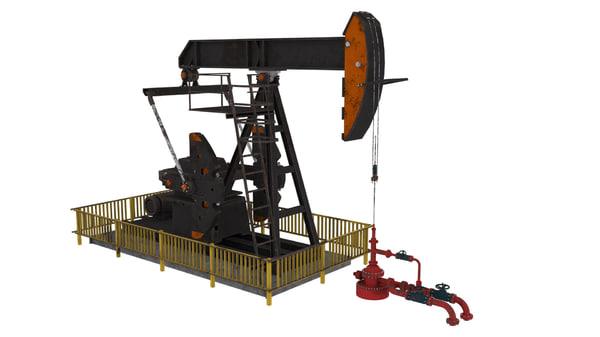 pumpjack jack pump 3d max