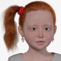 3d rosemary realistic child rig