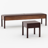 Bato bench and Bedside table