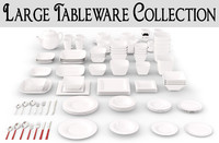 3ds large tableware plates set
