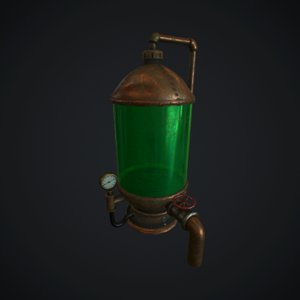 3d model steampunk punk boiler