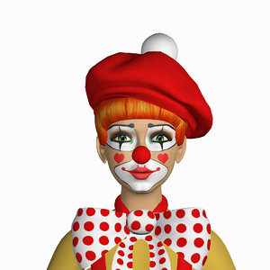 clown kitti 3d model