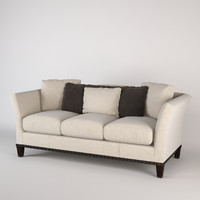baker flared arm sofa 3d max