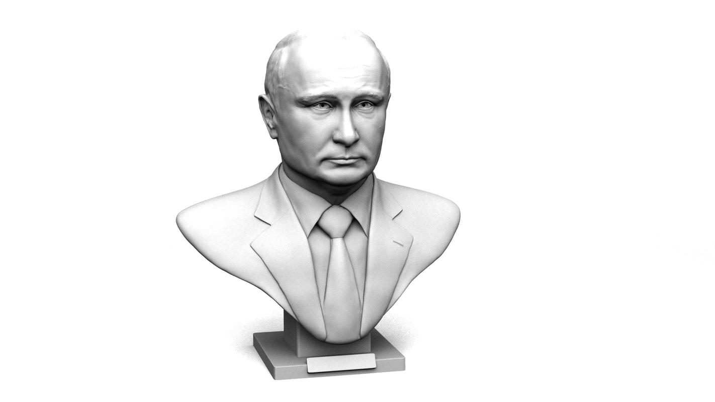 3d model of vladimir putin