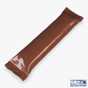 3d model candy wrapper v 7