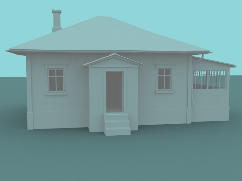 abandoned house 3d x