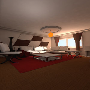 designs living modern elegant c4d
