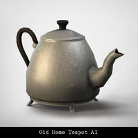 3d model old home teapot