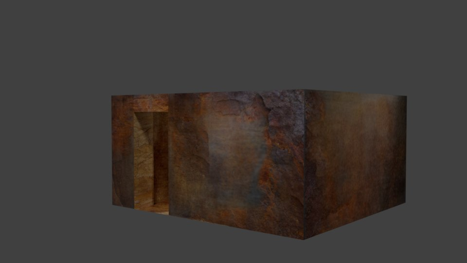 3d rusted industrial building model