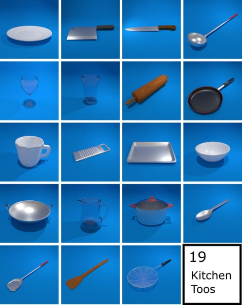 kitchen tools 3d model