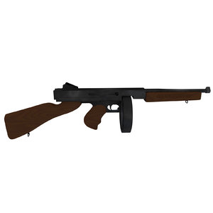 3d thompson submachine gun