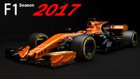 F1 Mclaren MCL32 Honda 2017