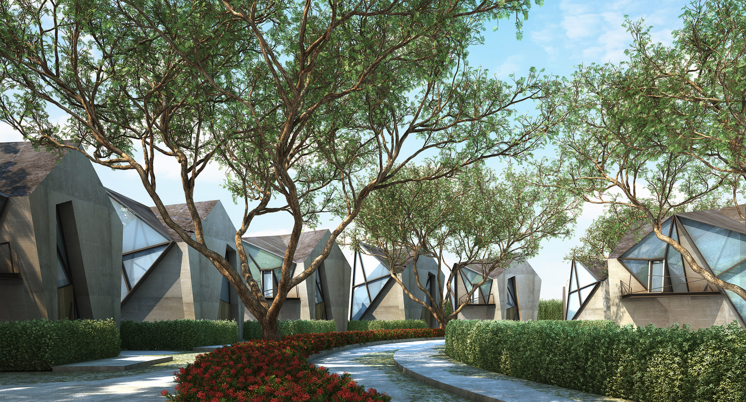 3d model of 2 tree