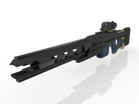 gun railgun 3d max