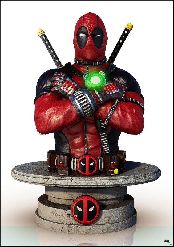 3d bust deadpool