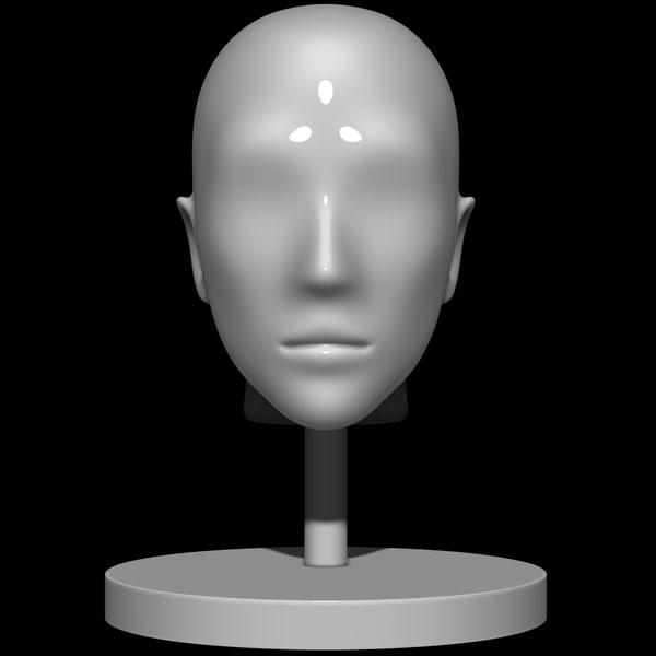 mannequin head 3d 3ds