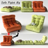 3d sofa piglet big model