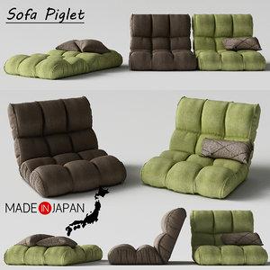 3d sofa piglet