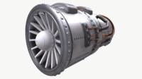 3d model engine jet