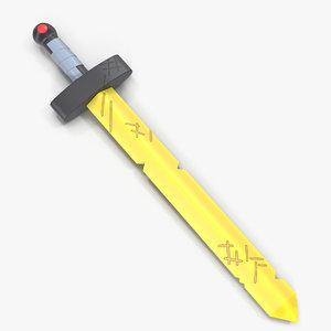 3d model finn s sword