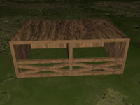 3d model horse stable