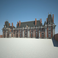old chateau 3d model