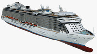 3d model cruise regal princess ship