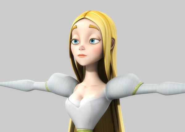 princess cartoon obj