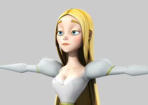 princess cartoon obj