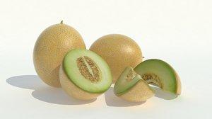 realistic melon set 3d max